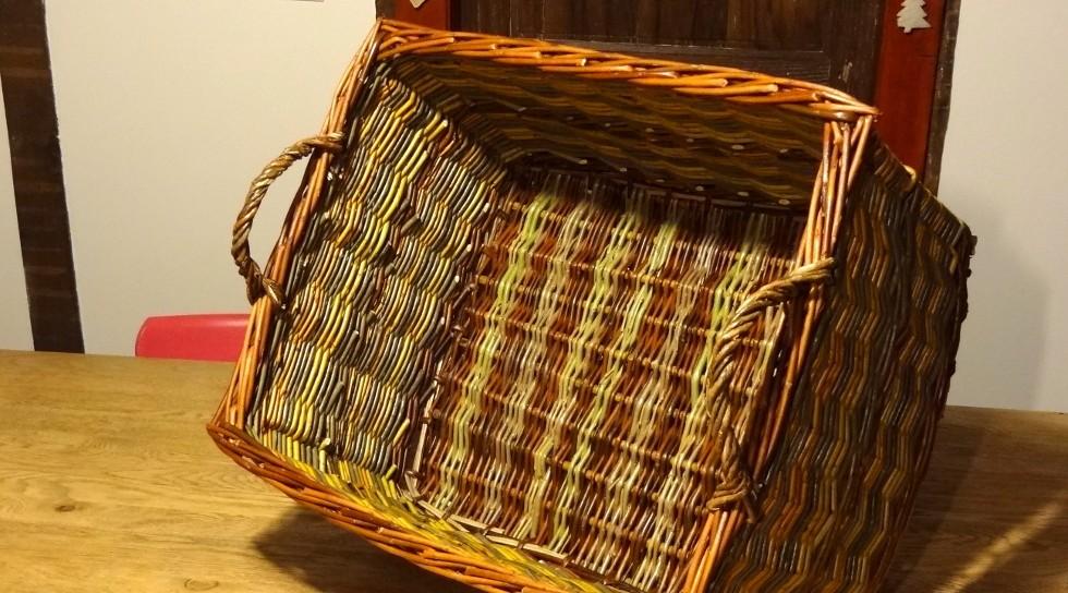 vannerie caisse rectangulaire pour les courses, le recyclage, le transport d'objets divers