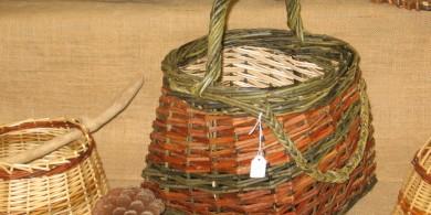 panier à bouteilles en osier divers et couleurs naturelles