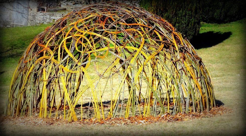 cabane tressée en osier